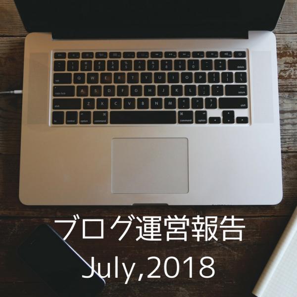 ブログ運営報告(2018年07月) なんて自己満足の世界だと思ってるけど書くよ