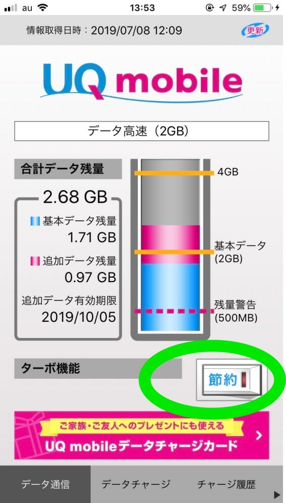 UQ mobile節約