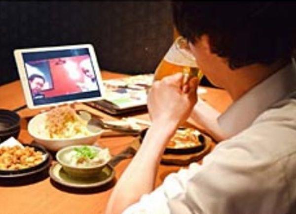 居酒屋・甘太郎のZoom搭載の「リモート飲み専用席」iPadも貸与